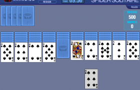 Spider Solitaire 3 Screenshot