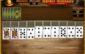 Spider Solitaire Suits Screenshot
